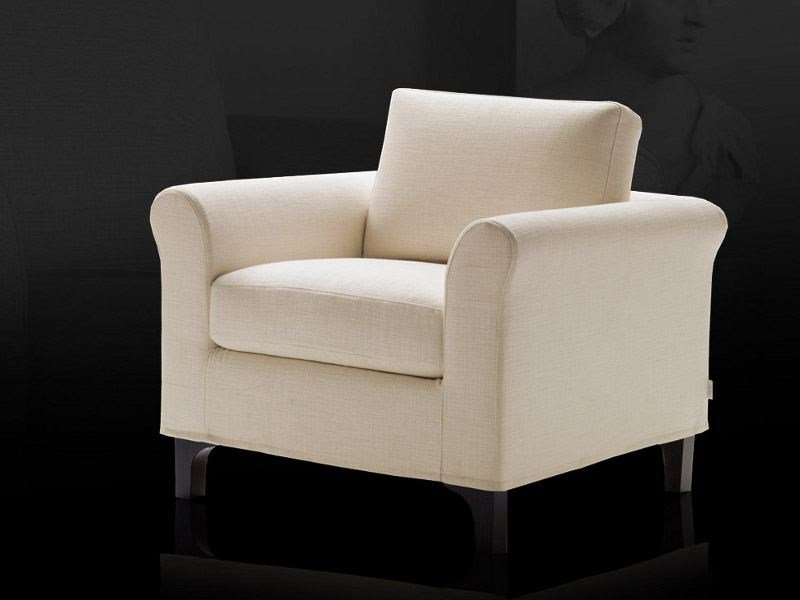 Fabric armchair with removable cover GRETA by Milano Bedding