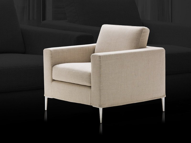 Upholstered fabric armchair GRACE by Milano Bedding