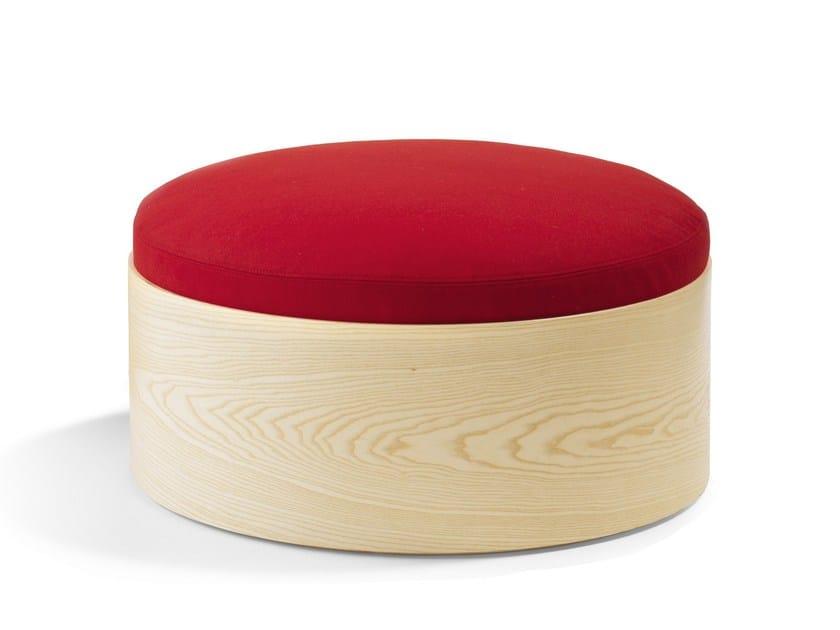 Upholstered wooden pouf B25 | Pouf by Blå Station