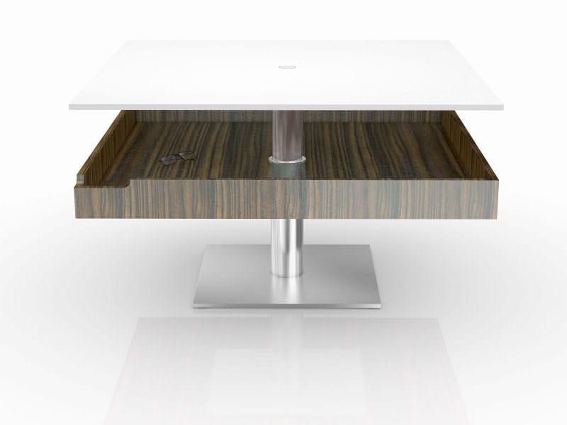 Square coffee table PHAETON by Ronald Schmitt
