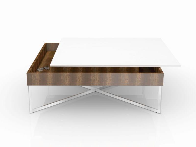 Square coffee table TAURUS by Ronald Schmitt