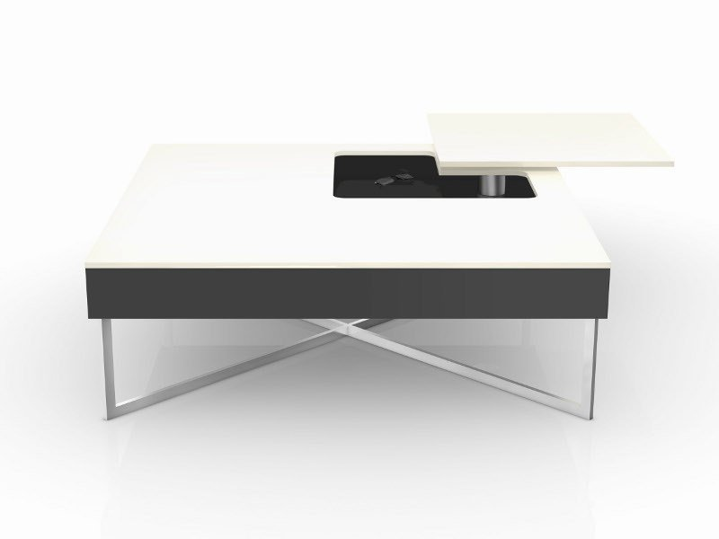 Lacquered square coffee table MERCURY by Ronald Schmitt
