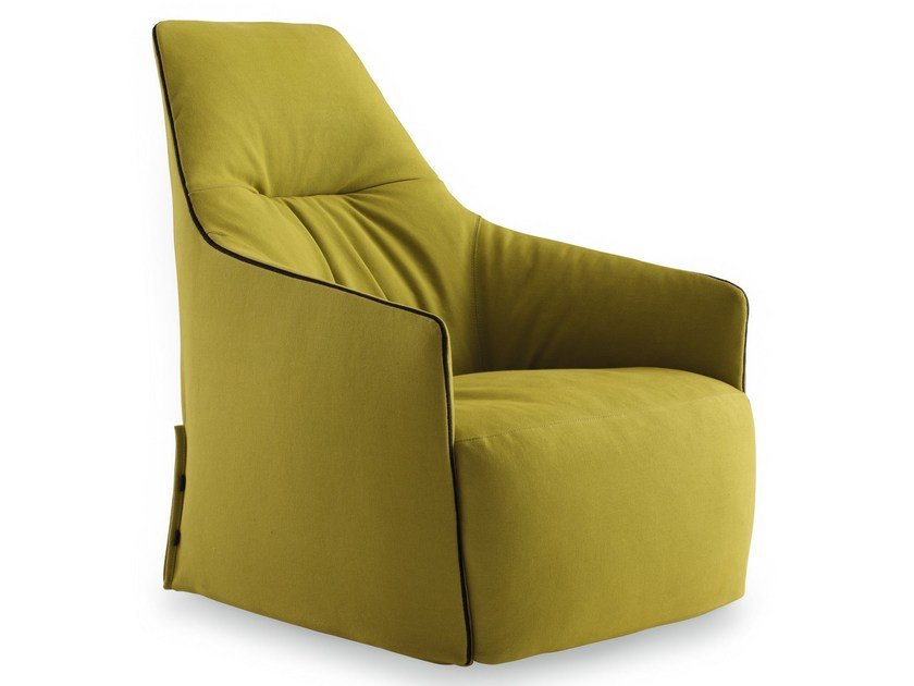 Upholstered fabric armchair SANTA MONICA LOUNGE by Poliform