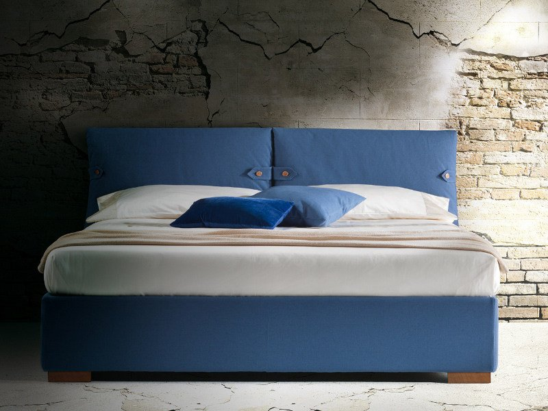 Double bed with upholstered headboard MARIANNE by Milano Bedding