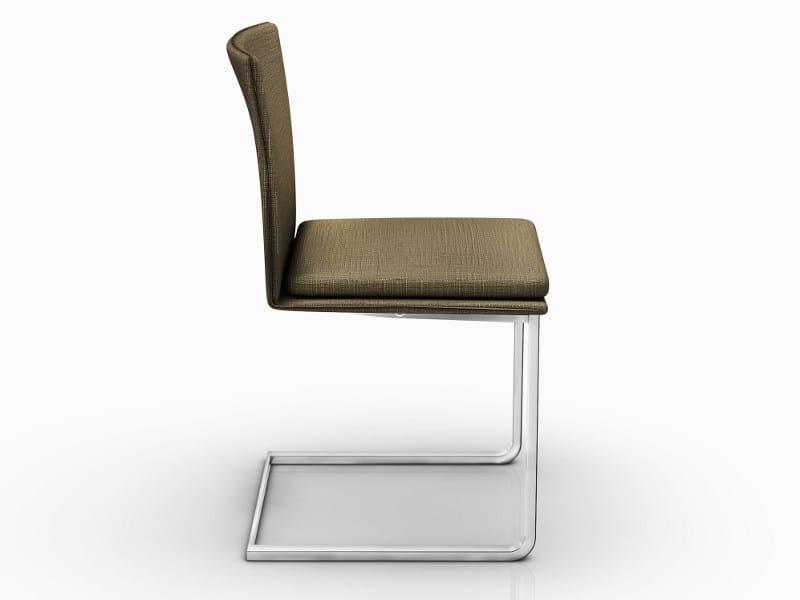 Cantilever upholstered chair NOMI by Ronald Schmitt