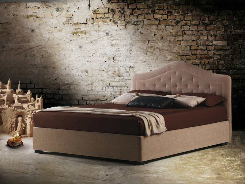 Double bed with upholstered headboard BORA by Milano Bedding