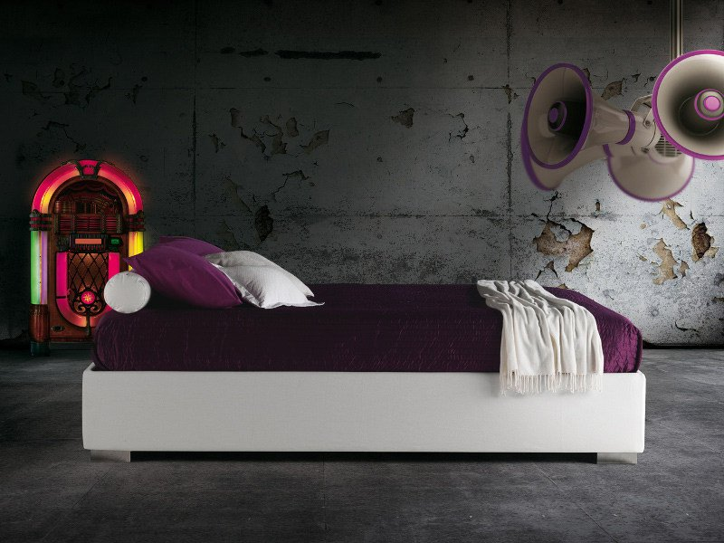 Upholstered double bed HAITI by Milano Bedding