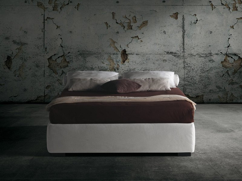 Upholstered double bed BARBADOS by Milano Bedding