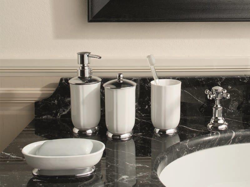 Ceramic liquid soap dispenser LADY | ceramic soap dispenser by GENTRY HOME
