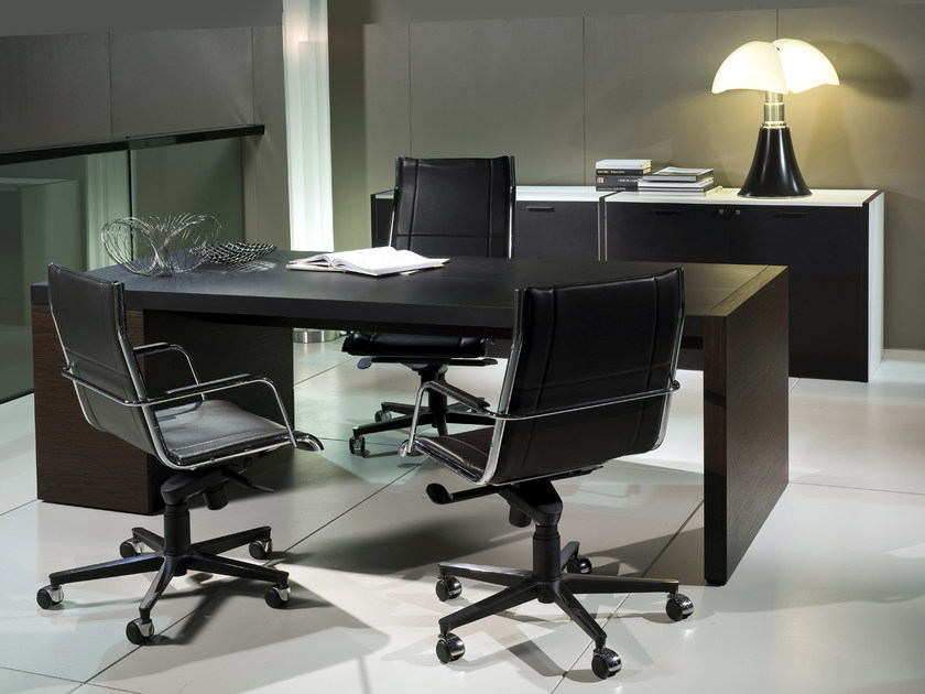 Height-adjustable swivel executive chair with casters BLADE | Executive chair by i 4 Mariani