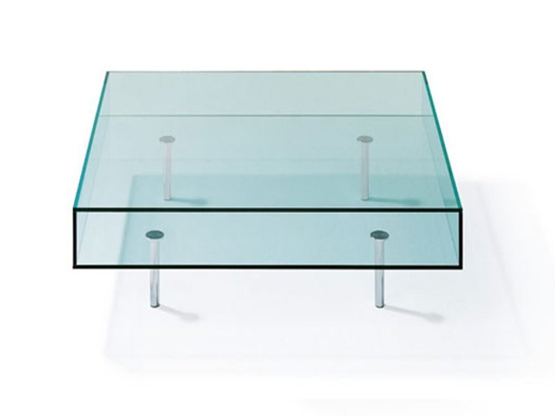 Low glass coffee table K 126 | Coffee table by Ronald Schmitt