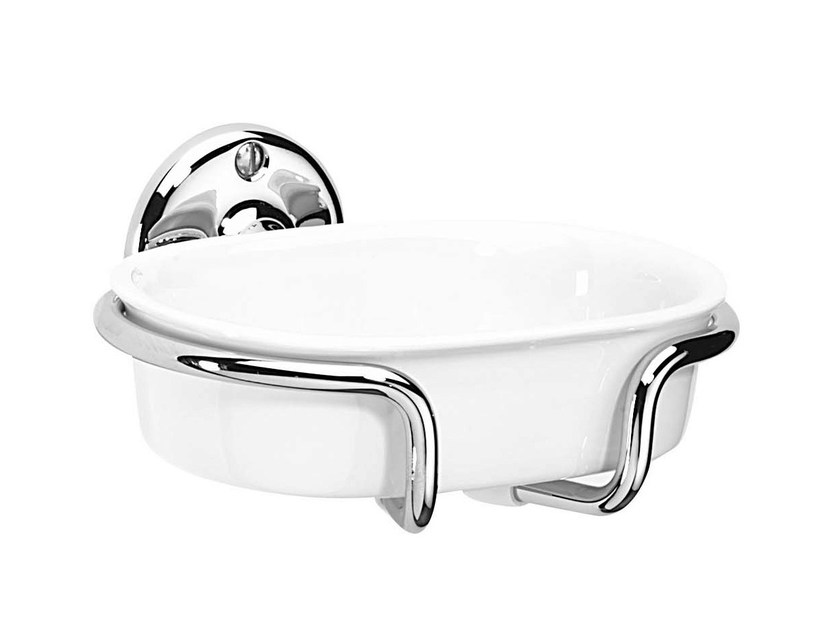 Wall-mounted ceramic soap dish ST. JAMES | Wall-mounted soap dish by GENTRY HOME
