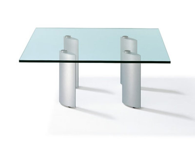 Square rectangular round glass coffee table K 285 | Coffee table by Ronald Schmitt