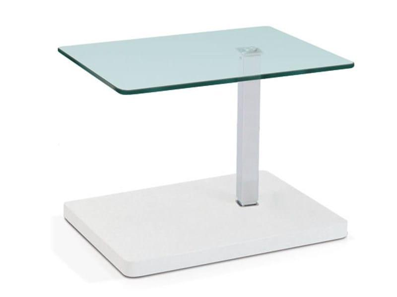 Height-adjustable rectangular coffee table OTIS by Ronald Schmitt