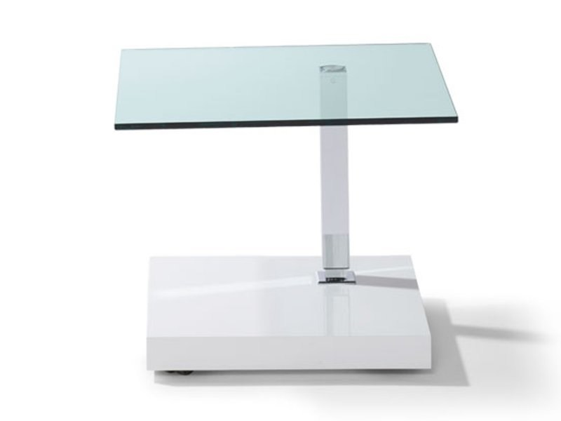 Height-adjustable square coffee table JACKO by Ronald Schmitt