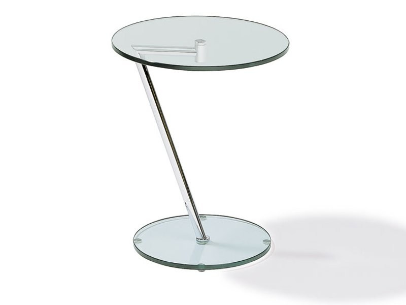 Round glass coffee table K 62 | Coffee table by Ronald Schmitt