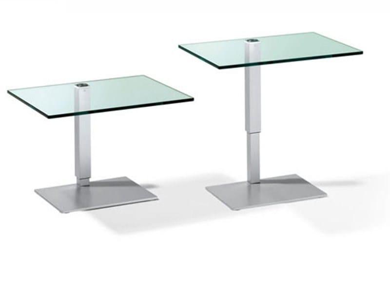 Beistelltisch glas höhenverstellbar  K 434 - 443 | Coffee table By Ronald Schmitt