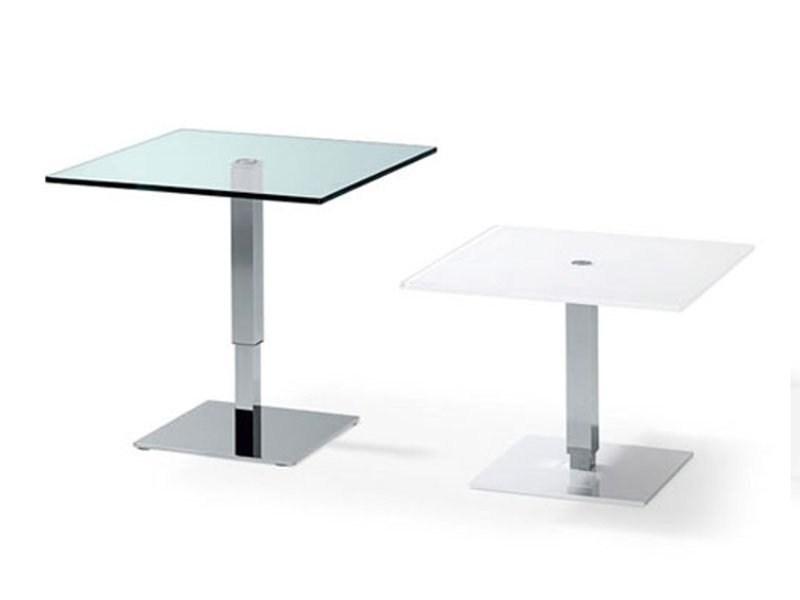 Height-adjustable glass coffee table K 434 - 443 | Coffee table by Ronald Schmitt