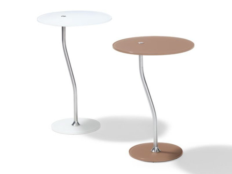 Round high side table COMPLIMENTS by Ronald Schmitt