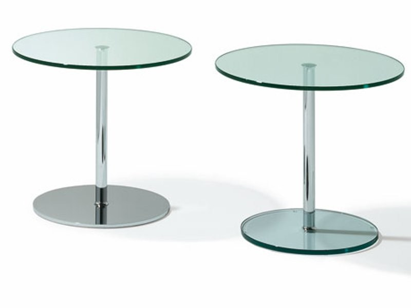 Round glass coffee table K 124 | Coffee table by Ronald Schmitt