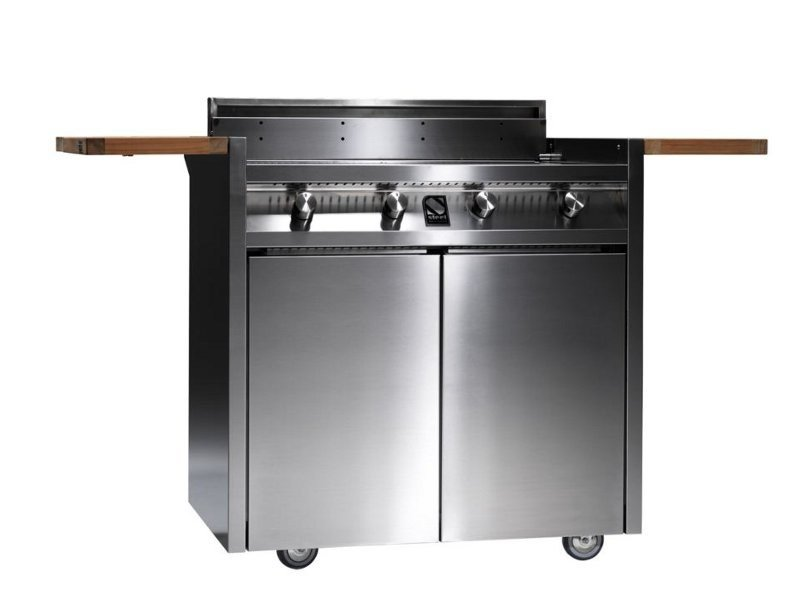 Gas barbecue GREEN by Steel