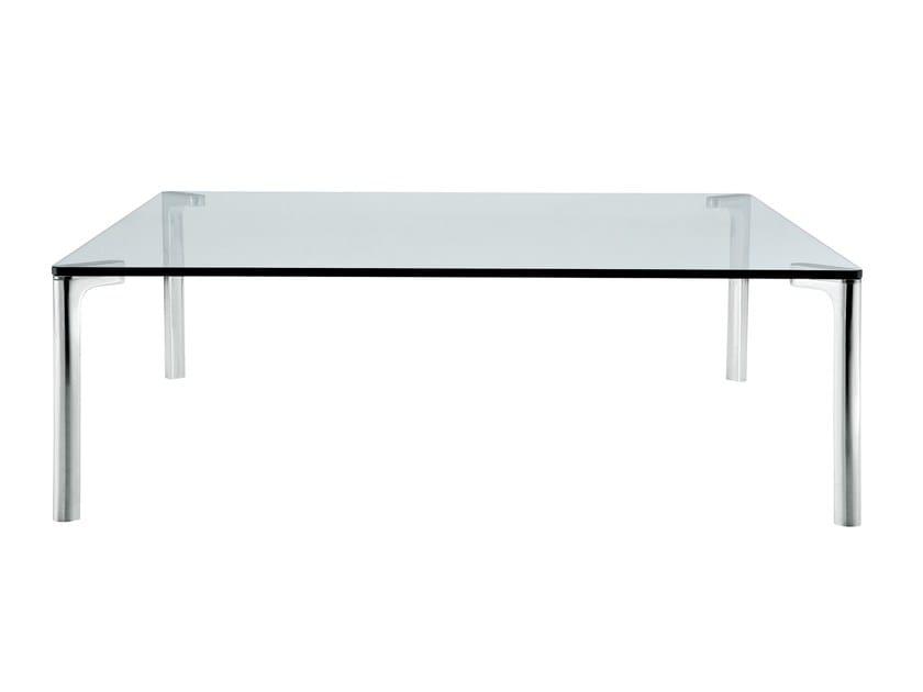 Rectangular crystal coffee table SPILLINO 678 by Zanotta