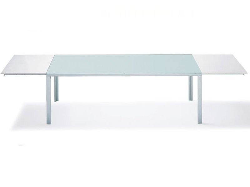 Extending lacquered dining table K - L 575 - E | Table by Ronald Schmitt