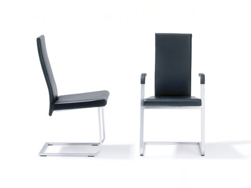 Cantilever chair with armrests RST 80 - 81 by Ronald Schmitt