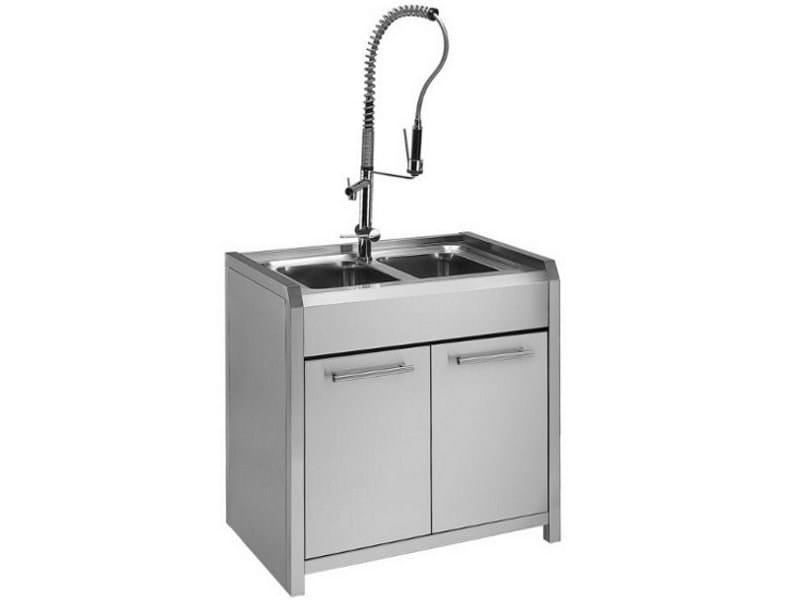 Sintesi lavello by steel - Mobile lavello cucina acciaio ...
