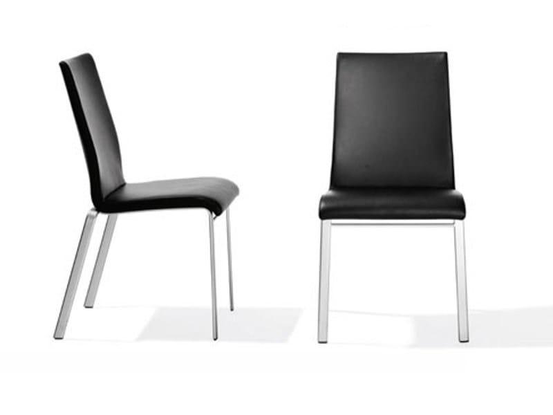 Leather chair RST 106 | Chair by Ronald Schmitt