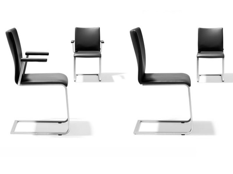Cantilever leather chair SAM - RST 114 - 115 by Ronald Schmitt