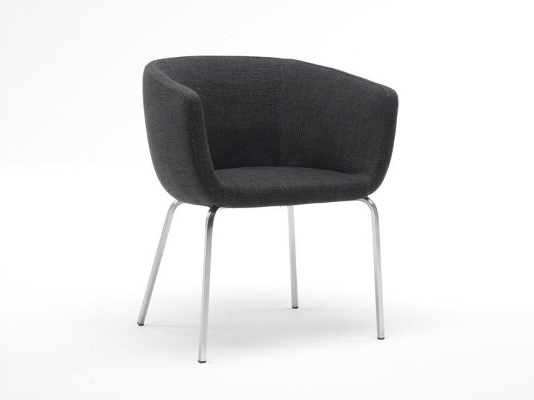 Upholstered fabric chair with removable cover NUT by Living Divani