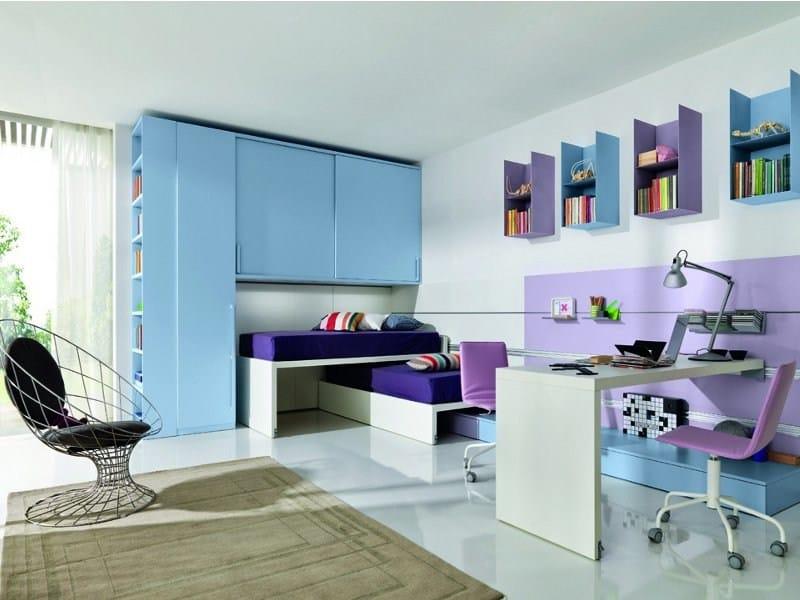 Contemporary style teenage bedroom Z020 | Bedroom set by Zalf