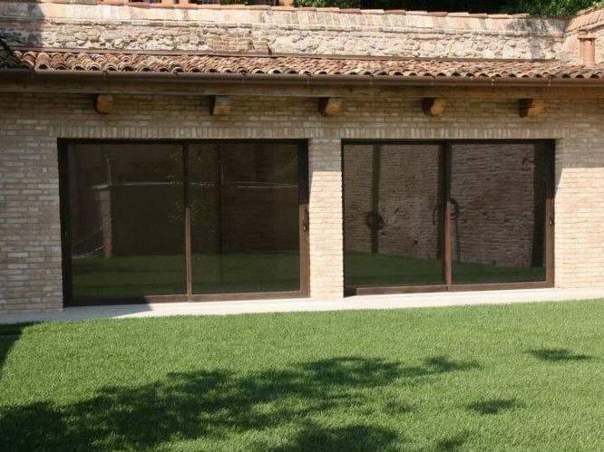 Porta-finestra a taglio termico alzante scorrevole in acciaio Corten™ MOGS 65® TT COR-TEN | Porta-finestra alzante scorrevole by Mogs