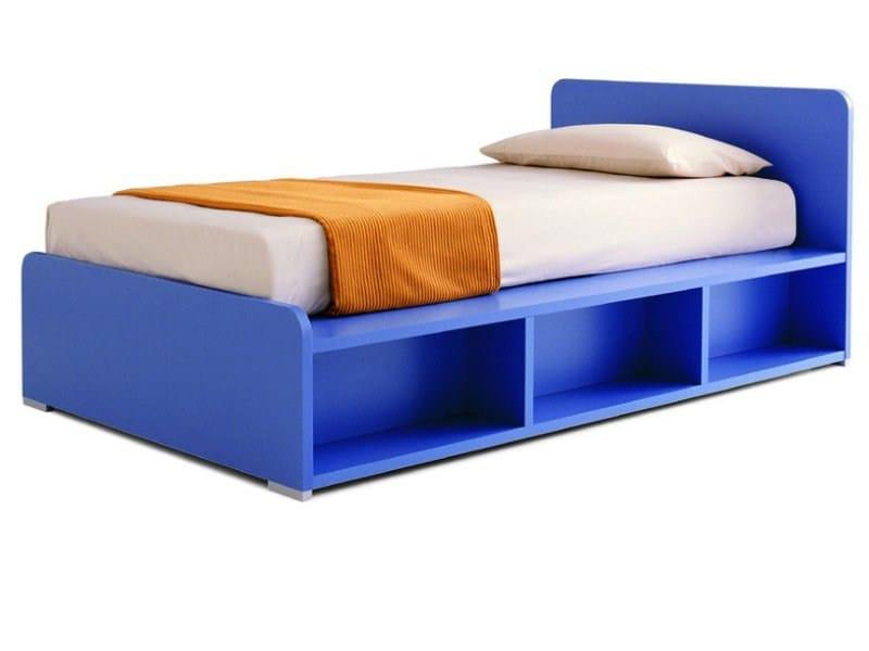 Melamine storage bed KING by Zalf