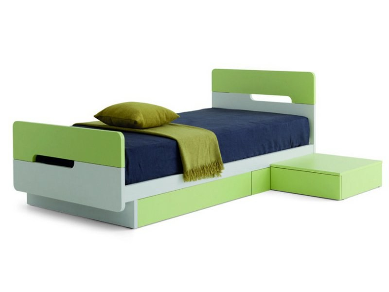 Kids Storage Bed Intended Kids Storage Bed Bicolor By Zalf By