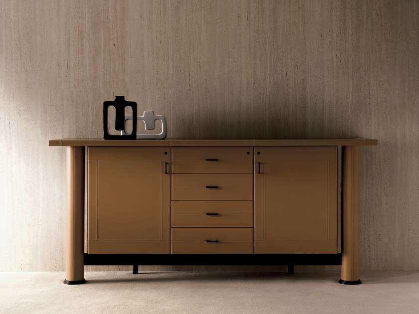 Low wooden office storage unit SUMMIT | Office storage unit by i 4 Mariani