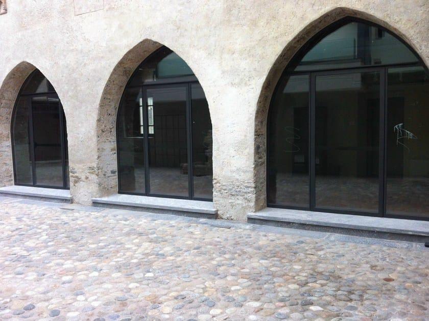 Porta-finestra a battente in acciaio zincato BASIC 20/10 E 15/10 | Porta-finestra by Mogs
