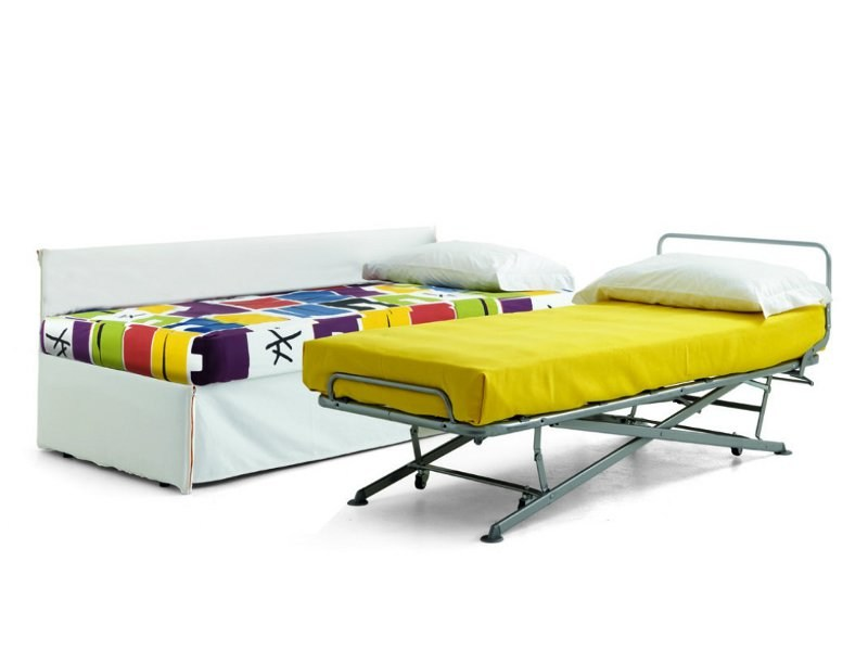 Upholstered bed with removable cover FLEXY | Bed by Zalf