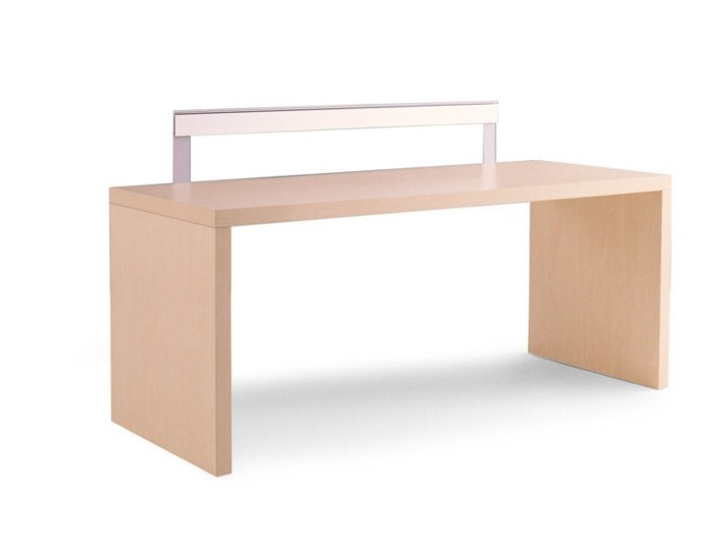 Rectangular oak Kids writing desk MINIMAL | Kids writing desk by Zalf