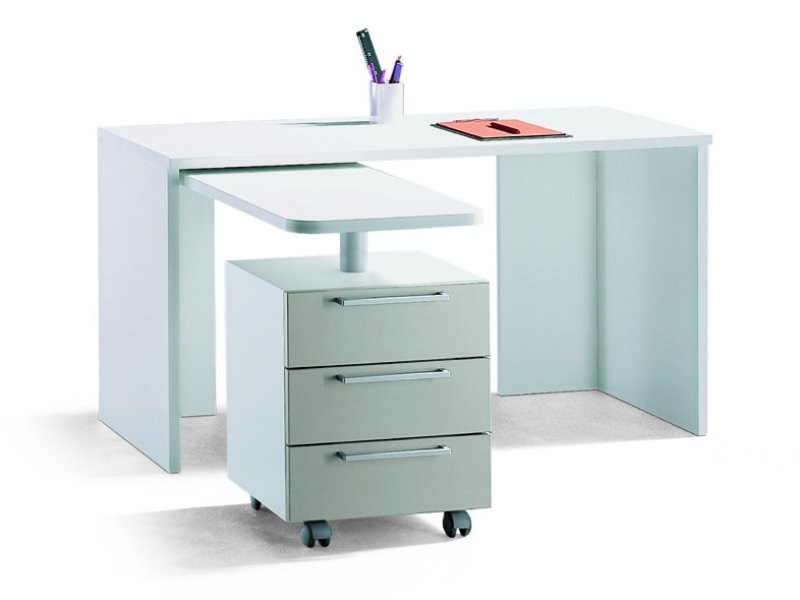 Rectangular Kids writing desk with drawers LINE DESK by Zalf