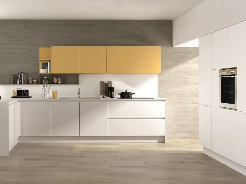 Fitted kitchen with island FILOESCAPE - ESCAPE by Euromobil