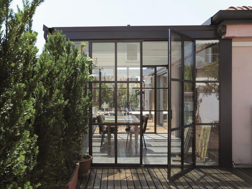 Porta-finestra in acciaio FERROFINESTRA® | Porta-finestra by Mogs