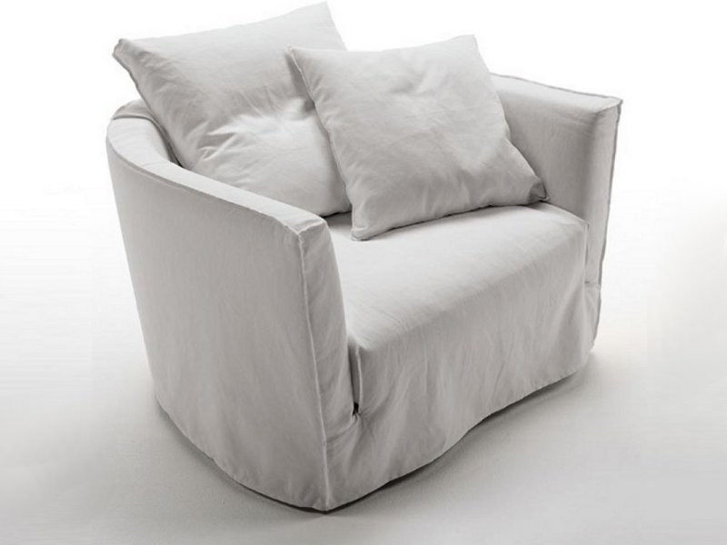 Fabric armchair with removable cover LOV TREND | Armchair by Désirée divani