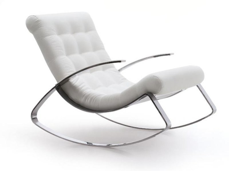 Rocking armchair with removable cover KEL IN by Désirée divani