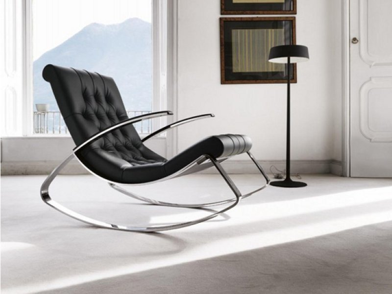 Rocking armchair with armrests KEL by Désirée divani