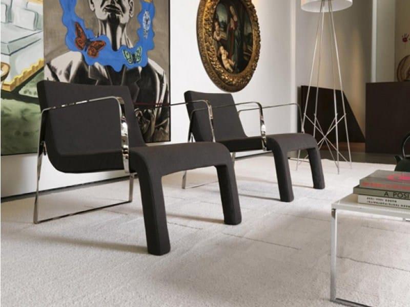 Armchair with removable cover LAIN by Désirée divani