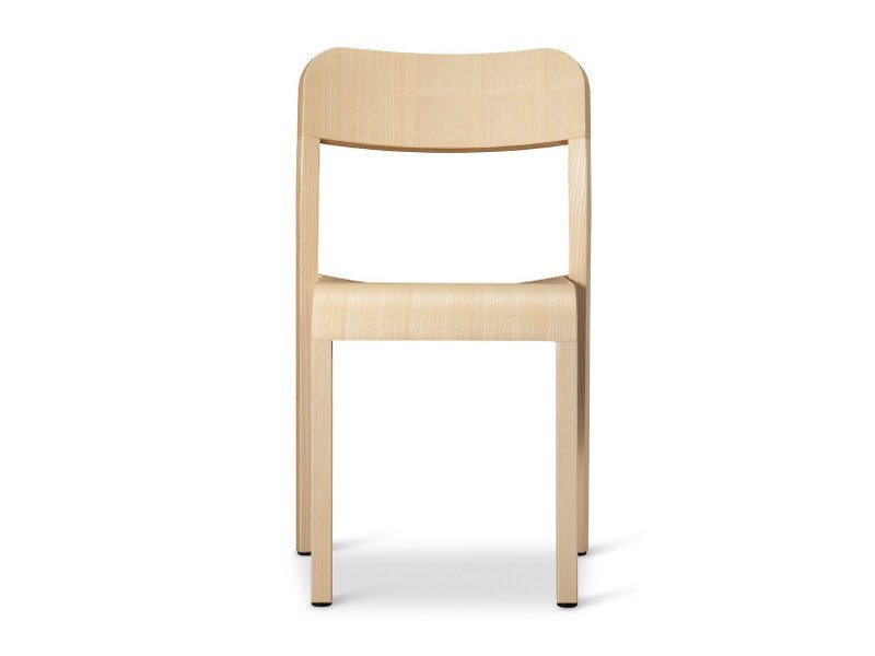 Stackable wooden chair BLOCCO | Chair by Plank