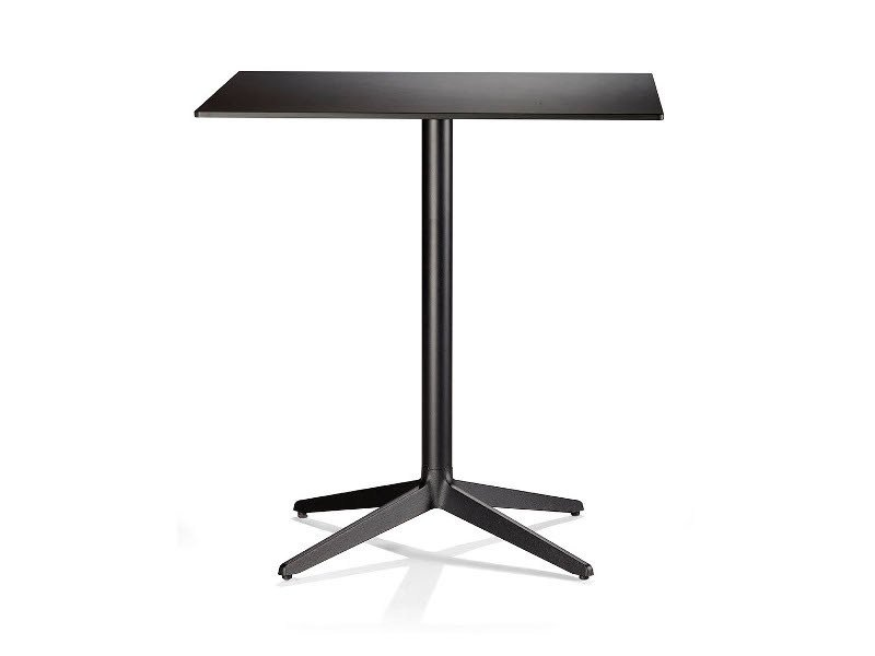 Cast iron table with 4-star base MISTER X | Square table by Plank