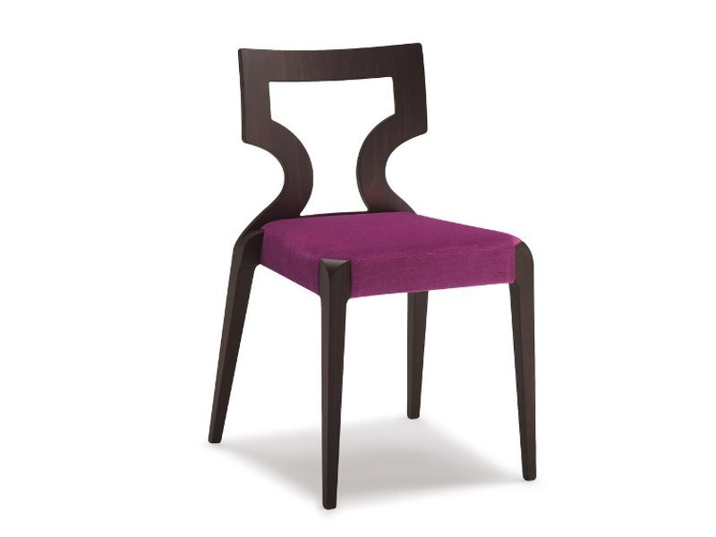 Stackable open back fabric chair SENDY   Chair by Cizeta